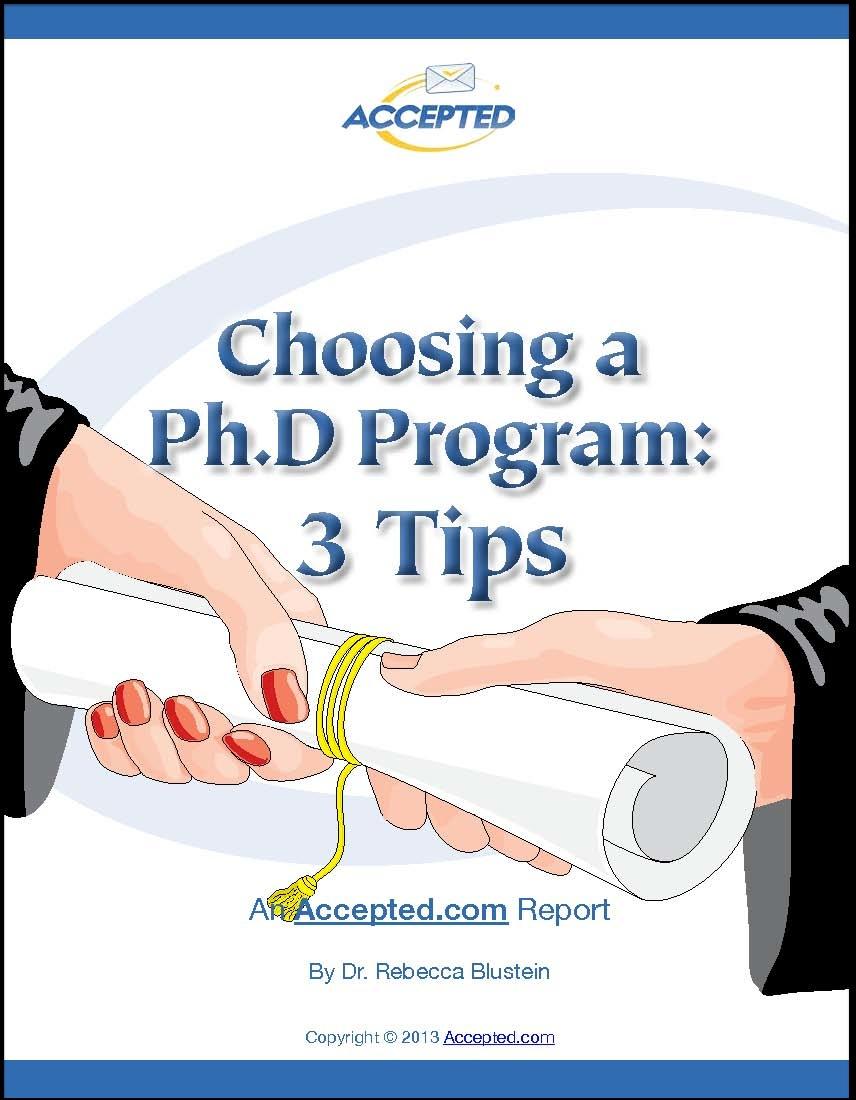 choosing a PhD