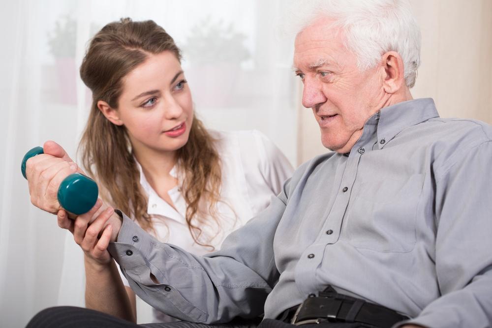 Elder man returning to good state of health