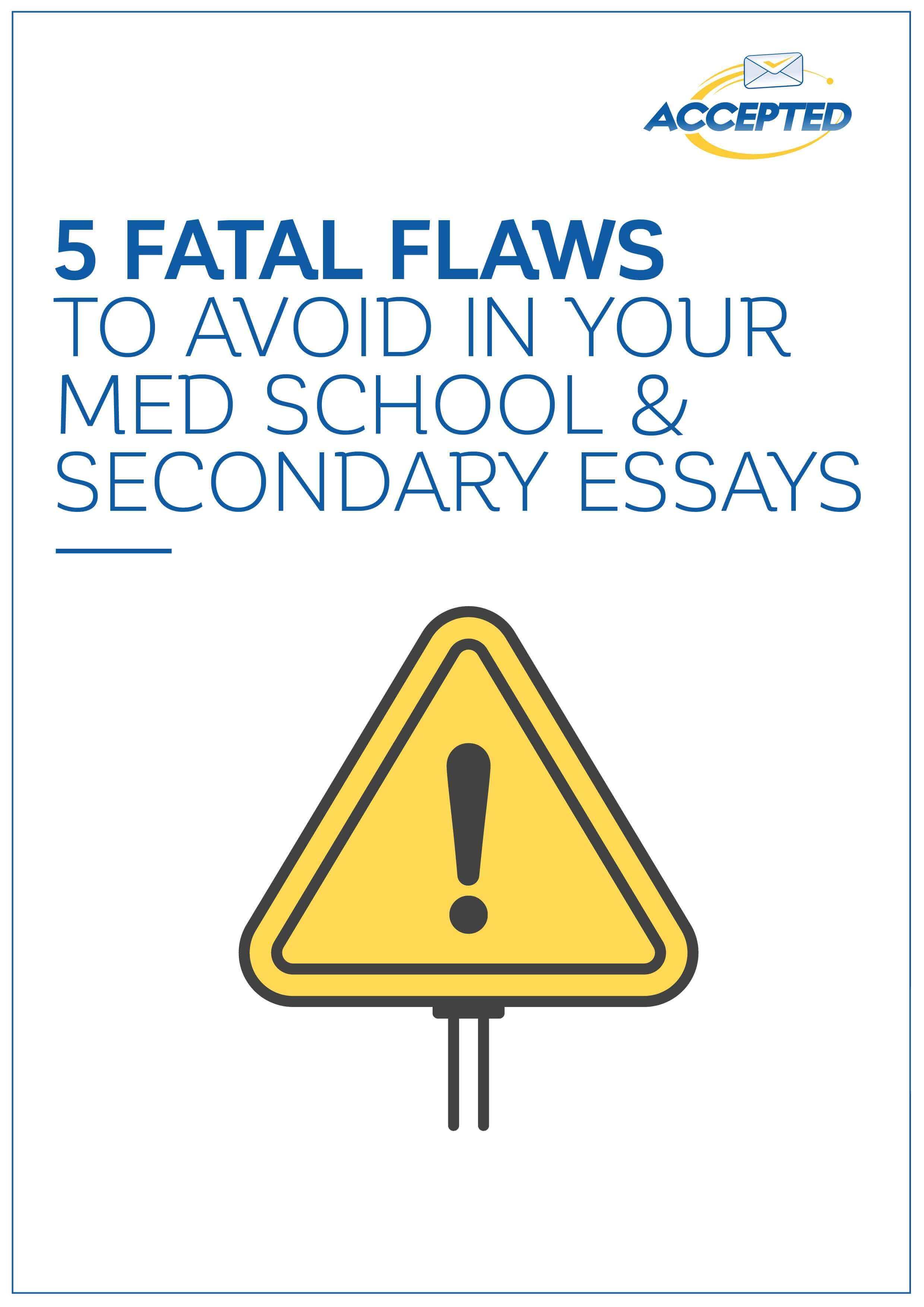 secondary essays for med school