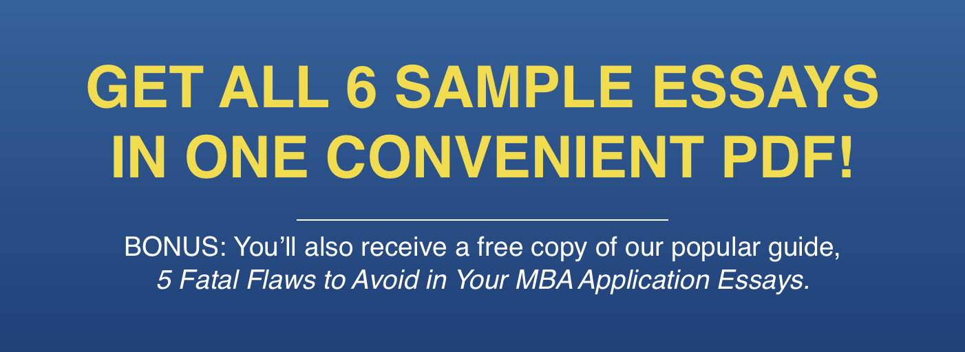 6 sample mba application essays bundle
